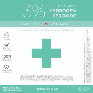 3% Food Grade Hydrogen Peroxide Label