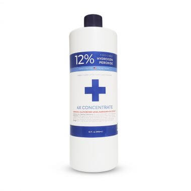 32 fl oz 12% Food Grade Hydrogen Peroxide Label