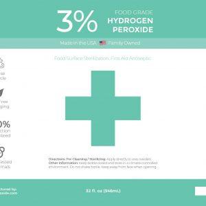 32 oz 3% Food Grade Hydrogen Peroxide Label